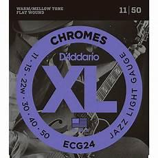 Light Gauge Flatwound Guitar Strings D Addario Xl Chromes Jazz Light Electric Guitar Strings