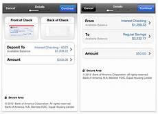 bank of america mobile deposit bank of america adds mobile check deposit to iphone app