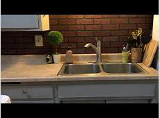 Faux brick backsplash   diy backsplash   easy kitchen makeover   YouTube