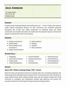 Resume For Landscaping Landscaping Resume Example Landscape Design Business