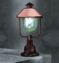 Contemporary Lantern Lighting Contemporary Copper Pedestal Lantern Contemporary