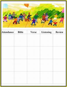 Sunday School Attendance Sheets Free Printable Sunday School Attendance Chart Chainimage