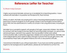 Recommendation Letter From Teacher Teacher Recommendation Letter 20 Samples Fromats
