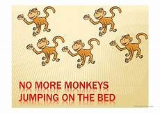 no more monkeys jumping on the bed ppt worksheet free