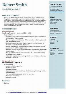 Resume Sample For Driver Company Driver Resume Samples Qwikresume