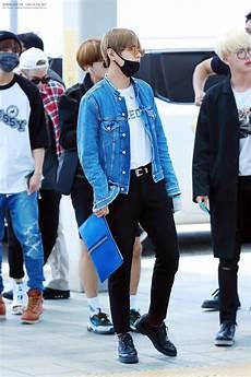 bts v taehyung airport fashion kpop idol fashion
