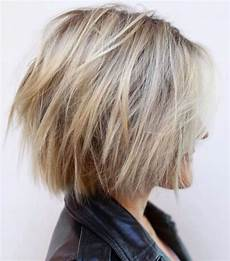 frisuren damen blond bob picture of a shaggy balayage bob with a