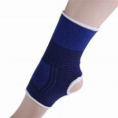 foot support sleeve blue elastic ankle foot support brace compression relief