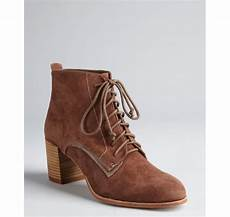 Dolce Vita Light Dolce Vita Light Brown Suede Hal Lace Up Ankle Boots In