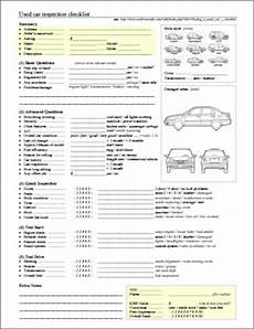Used Car Inspection Checklist Printable Buying A Used Car Checklist Noskewiki