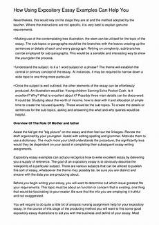 What Is A Expository Essay Example How Using Expository Essay Examples Can Help You