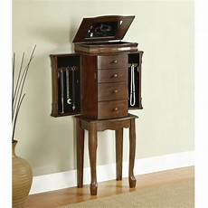 mirrored jewelry armoire box vintage cabinet stand up