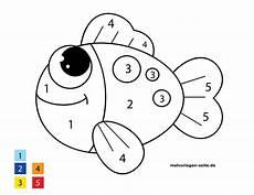 Ausmalbilder Zahlen Und Farben Malen Nach Zahlen Fisch Kostenlose Ausmalbilder