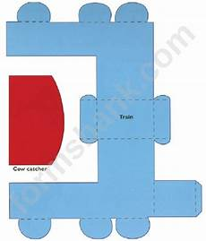 Paper Foldable Templates Foldable Paper Train Template Printable Pdf Download