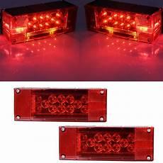 Rectangular Boat Trailer Lights 12v Led Thin Rectangular Trailer Lamp Kit Taillight Stop
