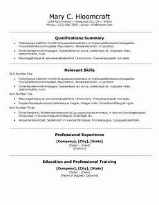 Free Traditional Resume Templates Free Functional Centred Traditional Cv Resume Template In