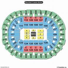 Concert Seating Chart Quicken Loans Arena Quicken Loans Arena Seating Chart Seating Charts Amp Tickets