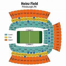 Pittsburgh Steelers Stadium Seating Chart Breakdown Of The Heinz Field Seating Chart Pittsburgh