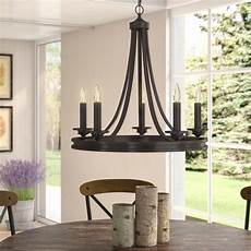 4 Light Candle Chandelier By August Grove August Grove Pavon 5 Light Candle Style Wagon Wheel