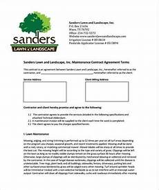 Free Landscaping Contract Forms Free 9 Lawn Care Contract Samples In Pdf Ms Word