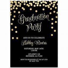 Graduation Party Invitation Glitter And Gold Graduation Party Invitation The Invite Lady