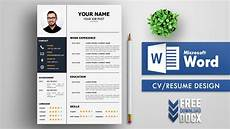 Cv Template Word Download Cv Template Resume Design In Ms Word Free Download Youtube