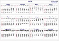 2020 Calendar With 2020 Calendar Printable Calendar 2020 Calendar In