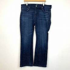 7 For All Mankind Men S Jeans Size Chart 7 For All Mankind Men S Bootcut Brett Jeans Size 36 Cotton