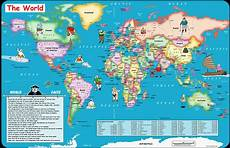 World Maps Online Fun World Map For Kids Canvas Print Buy Australian Cheap