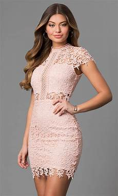 cap sleeve lace graduation dress promgirl