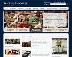 free college website templates in php academic education website template free website