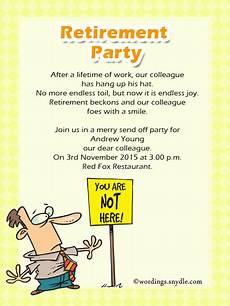Retirement Invitation Examples Retirement Party Invitation Wording Ideas And Samples
