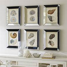 Ballard Designs Art Shells In Mirror Frame Art