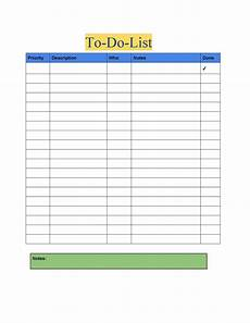 To Do List Printable Checklist 50 Printable To Do List Amp Checklist Templates Excel Word