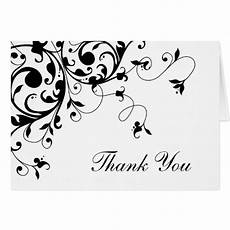 thank you card template and black black and white damask thank you note cards zazzle