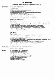 Example Of Cook Resume Line Cook Resume Examples Louiesportsmouth Com