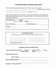 Free Rental Template Vacation Rental Agreement 8 Free Word Pdf Documents