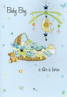 Congratulation Baby Cards New Baby Boy Congratulations Card Water Colours By Second