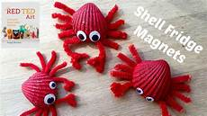 crafts seashell sea shell crafts crab fridge magnets diy seashell