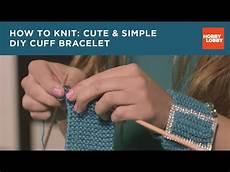 knitting basics simple cuff bracelet