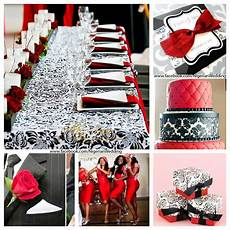 red white and black damask wedding theme weddings