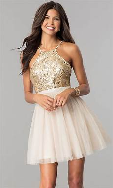 sequin bodice tulle homecoming dress promgirl