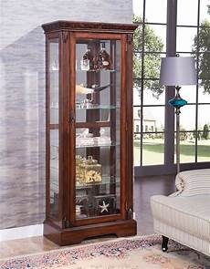 acme furniture addy cherry curio cabinet with light the