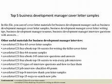 Cover Letter For Business Development Manager Top 5 Business Development Manager Cover Letter Samples