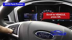 Change Light Ford Fusion 2015 Ford Fusion Oil Light Reset Service Light Reset