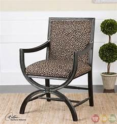 animal print accent chair cyerra leopard print wood frame safari accent chair 23176
