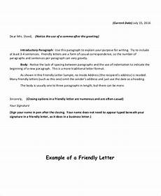 Example Of Friendly Letter 18 Friendly Letter Format Free Sample Example Format