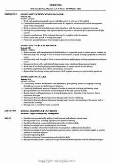 Resume Format Hotel Management Best Hotel Manager Resume Sample Hospitality Manager