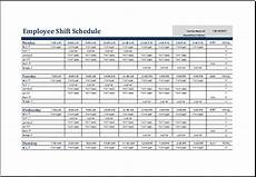 Shift Roster Format Employee Shift Schedule Template Ms Excel Excel Templates