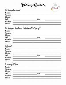 Wedding Vendor Checklist Template Wedding Planner With Free Printables Refurbished